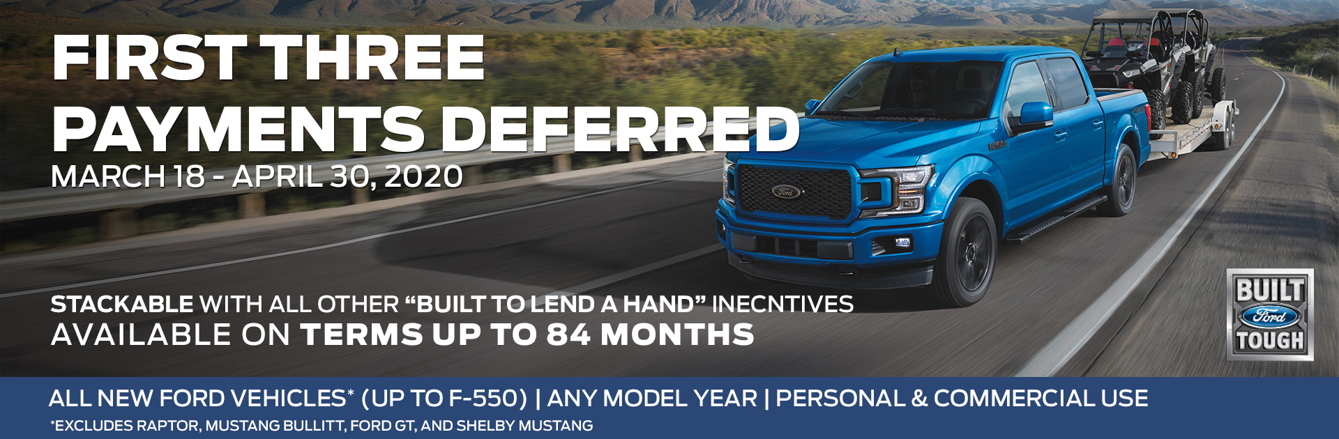 Ford Deferred Payment Offer