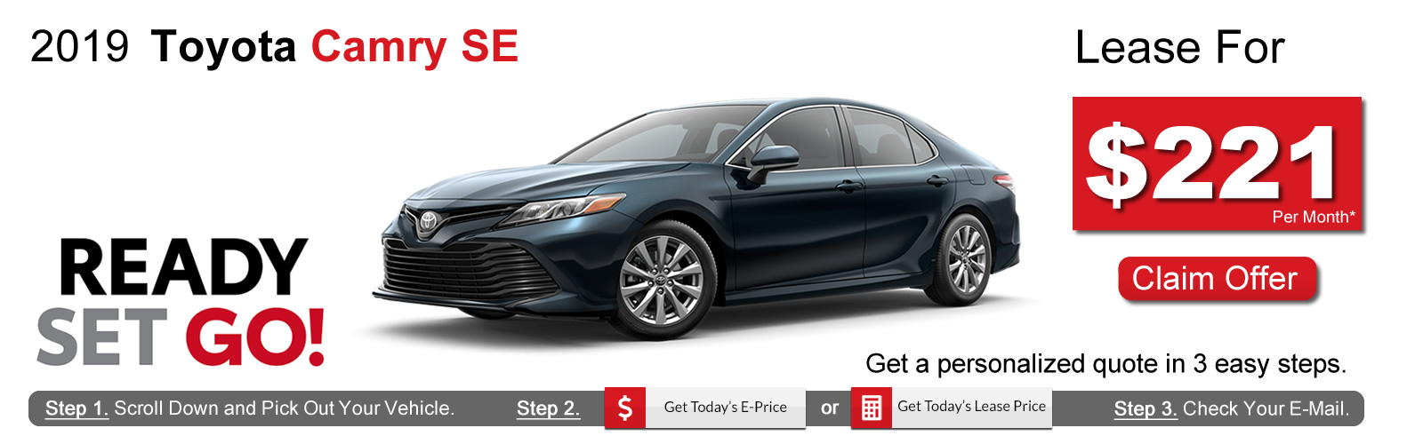 2019 Toyota Camry Lease Deals near Boston, MA