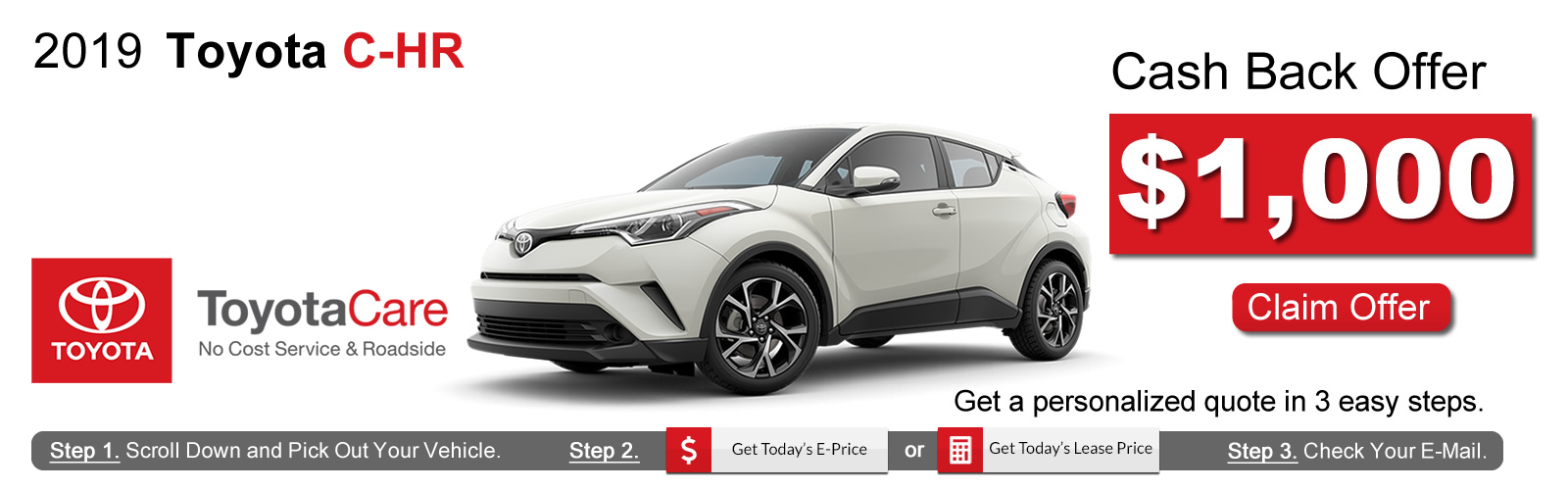 2019 Toyota CH-R Lease Deals near Boston, MA