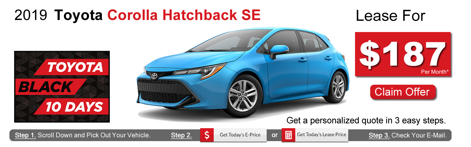 2019 Toyota Corolla Hatchback Lease Deals near Boston, MA