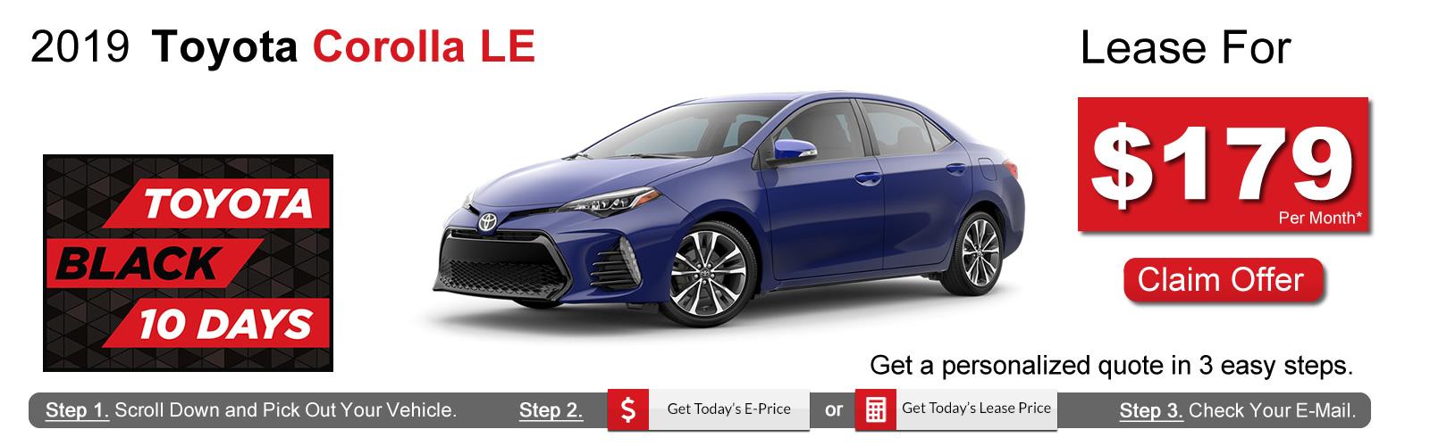 2018 Toyota Corolla Lease Deals near Boston, MA