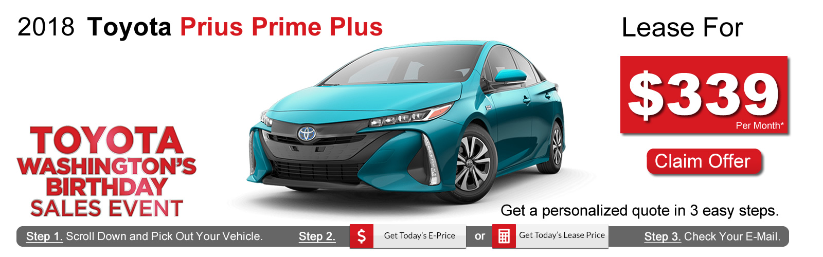 2019 Toyota Prius Lease Deals near Boston, MA