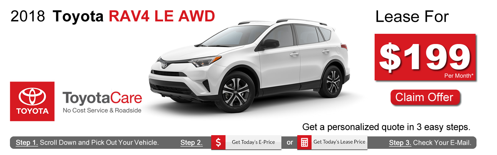 2018 Toyota RAV4 Lease Deals near Boston, MA