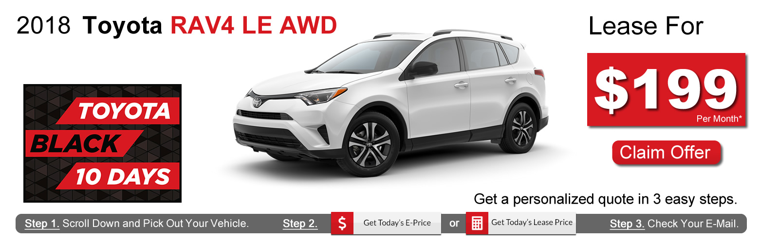 2018 Toyota RAV4 Lease Deals near Boston, MA