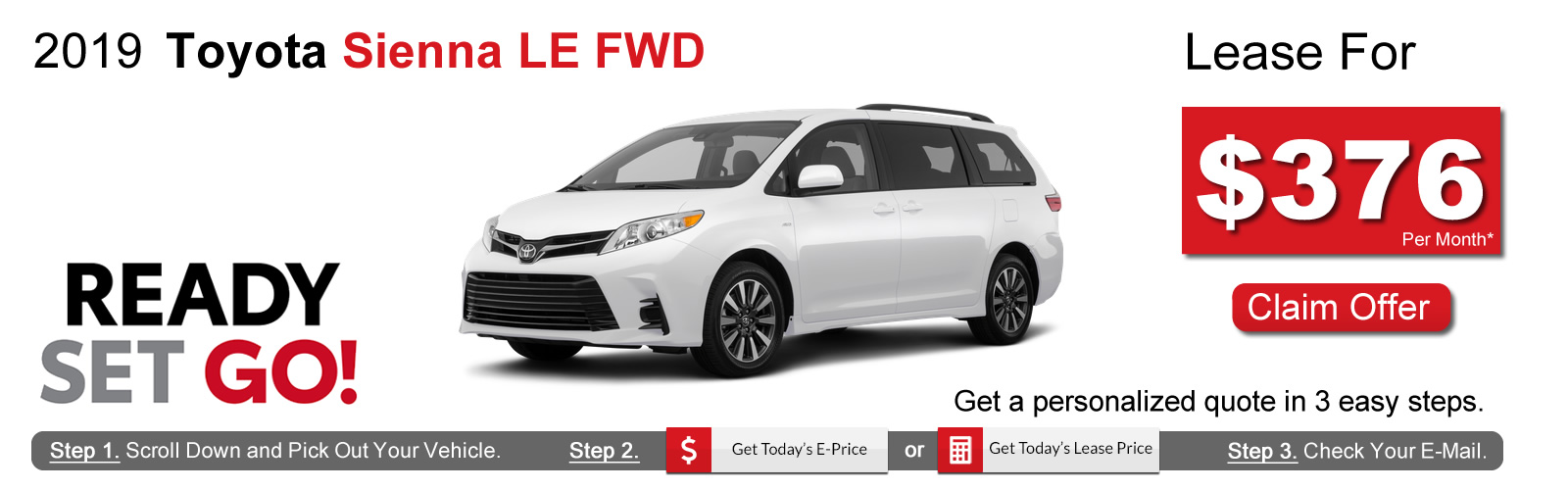 2019 Toyota Sienna Lease Deals near Boston, MA