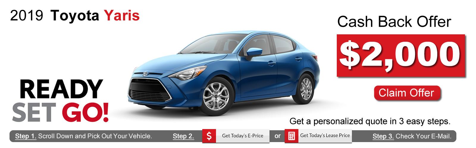 2019 Toyota Yaris Lease Deals near Boston, MA