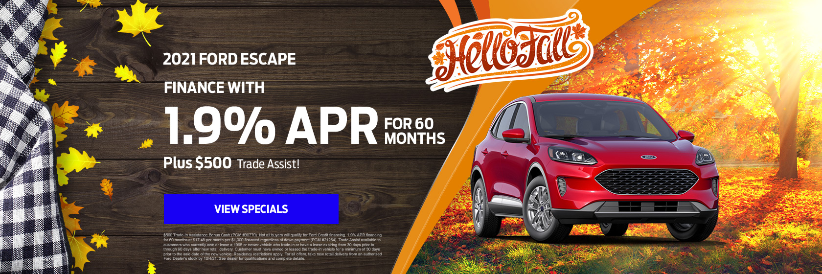 2021 Ford Escape September Special
