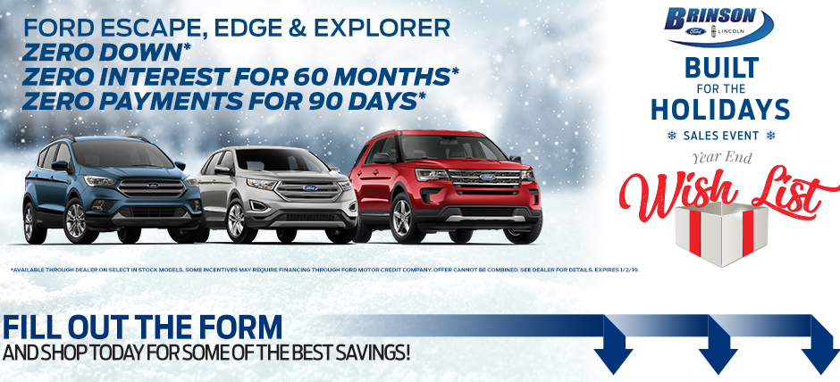 Brinson Ford Corsicana >> Brinson For Holiday Sales Event