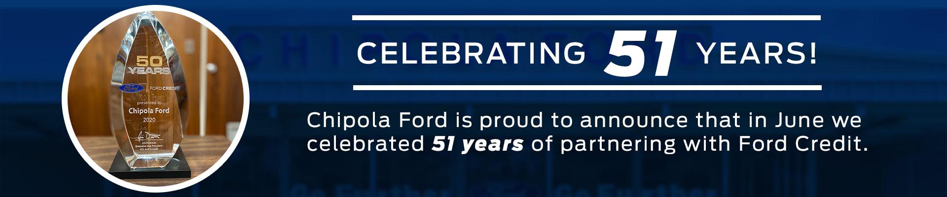Ford Credit 51 Years Award