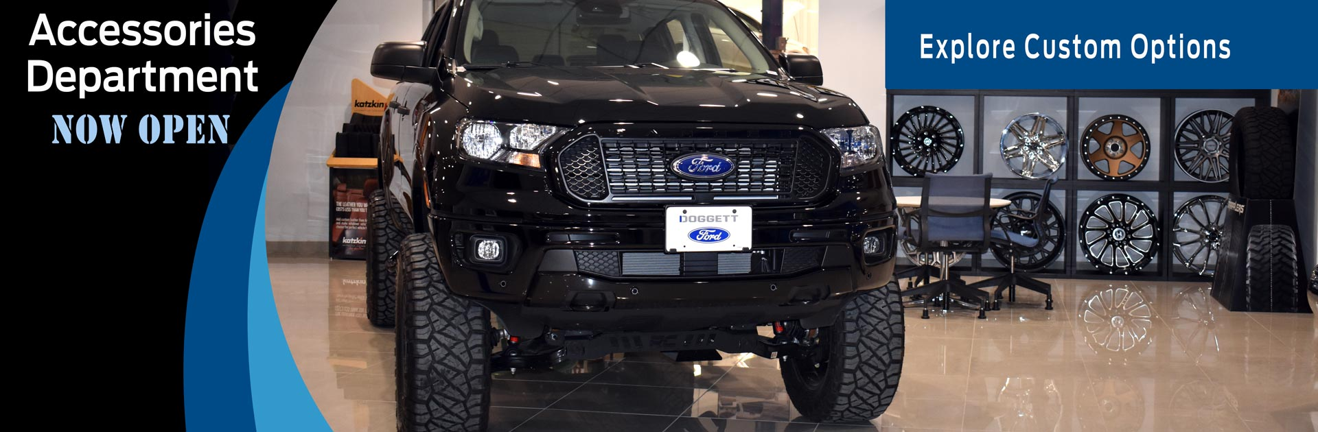 Accessories Department Now Open at Doggett Ford
