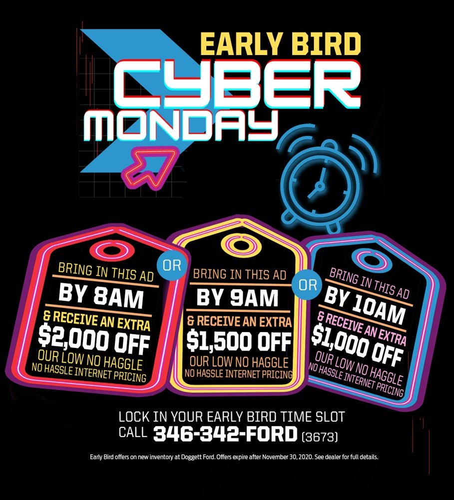 Cyber Monday Doggett Ford