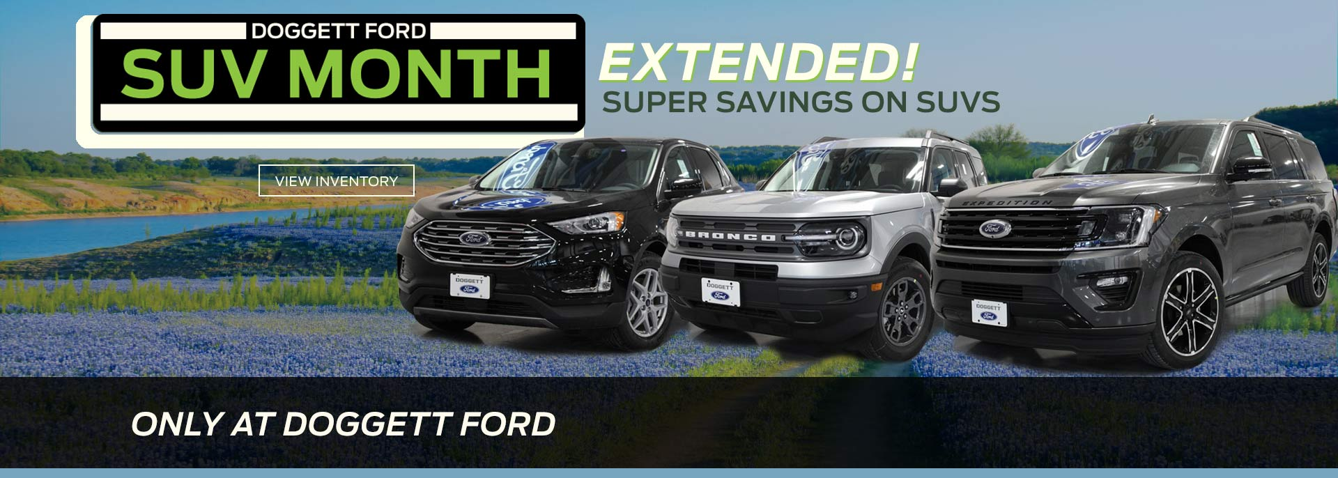Suv Month Super Savings Extended Wide Hero Green Cta Doggett Ford 1920w