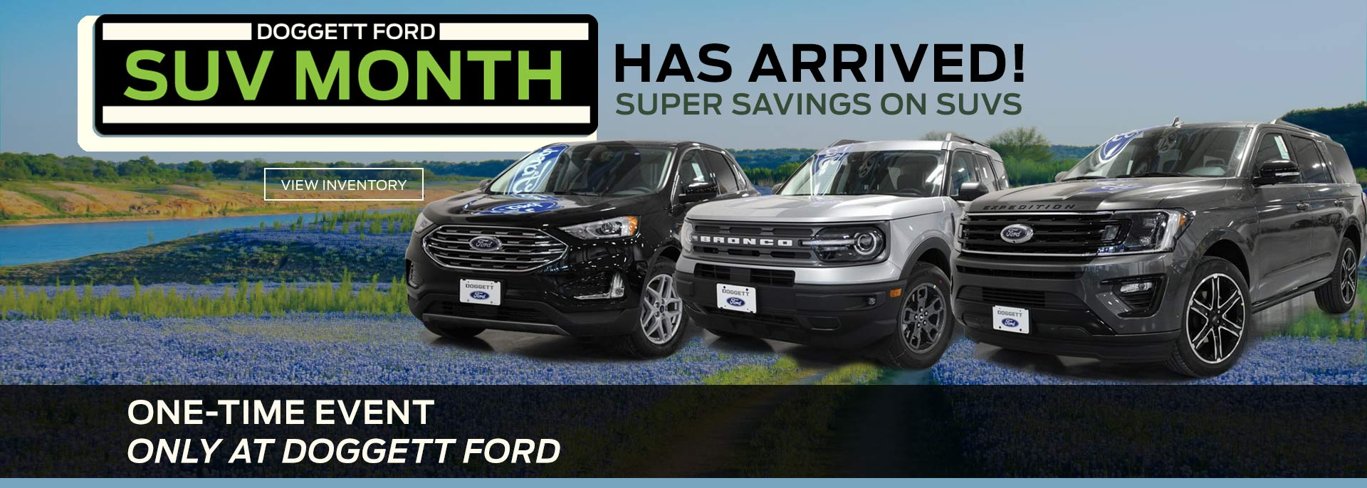 SUV Month with Super Savings at Doggett Ford