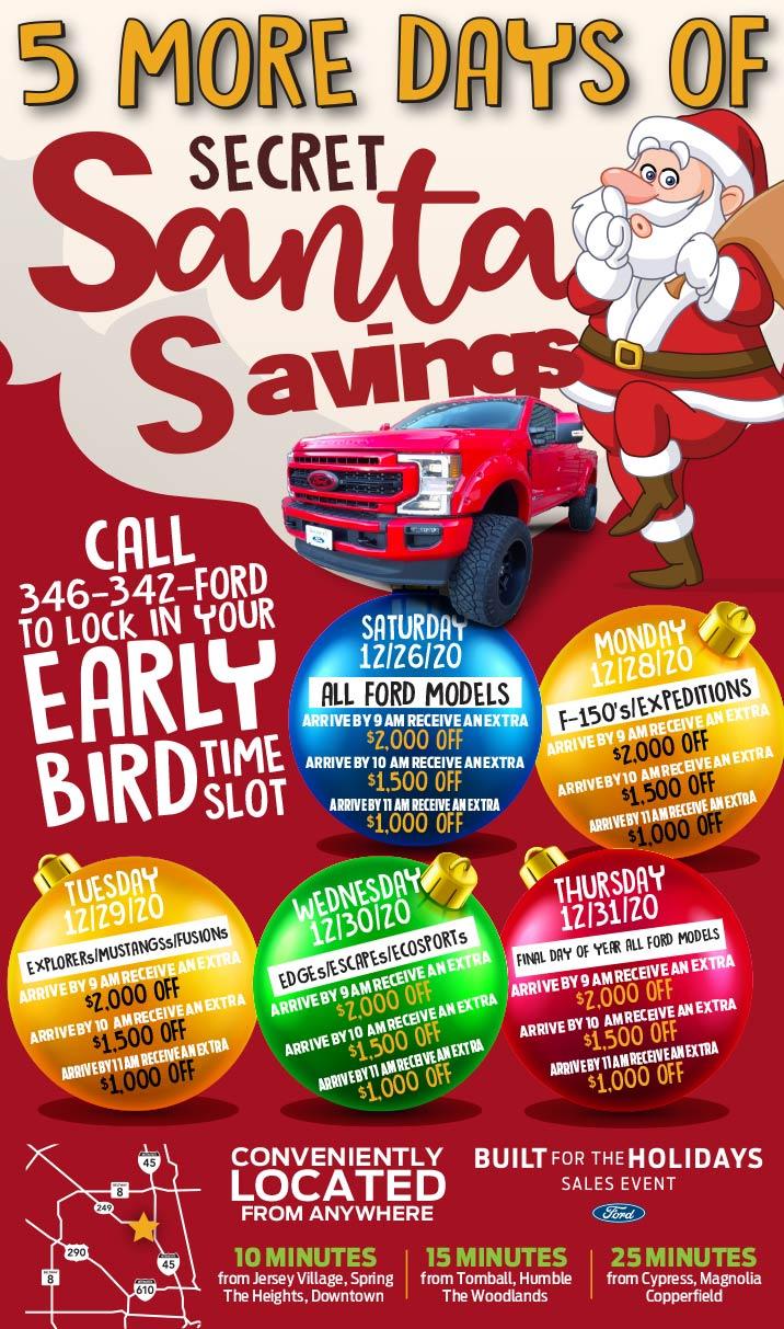 Secret Santa Extended 5 Days Of Savings Image