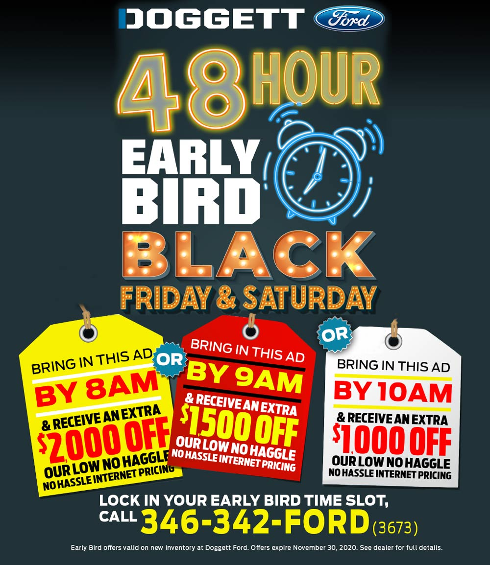 Early Bird Black Friday 2020