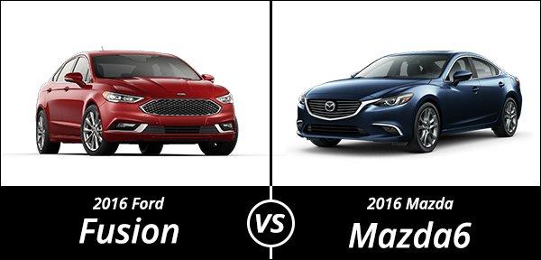 comparison 2016 ford fusion vs 2016 mazda6. Black Bedroom Furniture Sets. Home Design Ideas