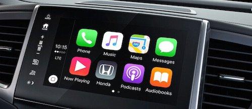 Apple CarPlay on 2017 Honda Pilot