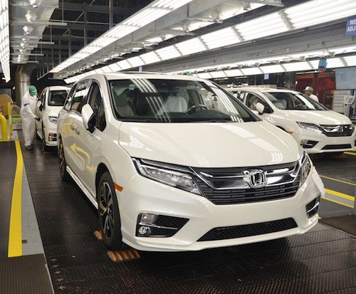 2018 Honda Odyssey Production Line