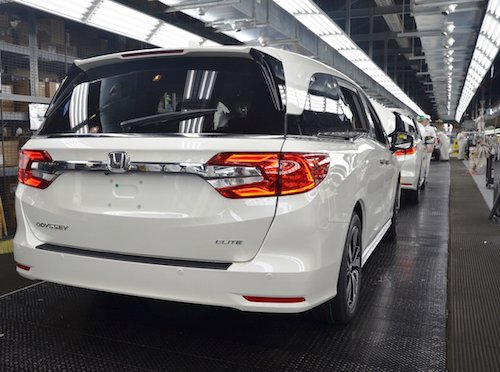 2018 Honda Odyssey Production Line