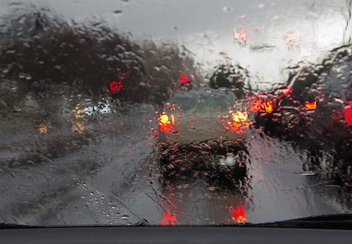 Impared vision by rain