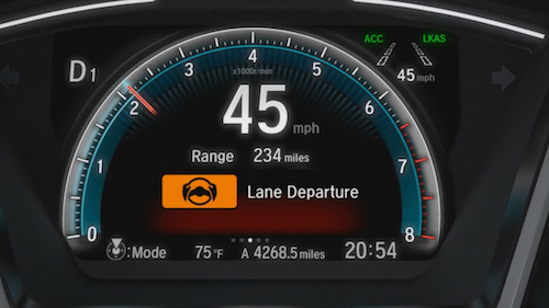 Honda Lane Departure Mitigation