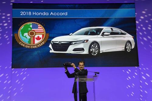 Honda North America >> Honda Accord Named 2018 North American Car Of The Year