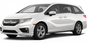 2020 Honda Odyssey White Full Color Driver Side Front Quarter
