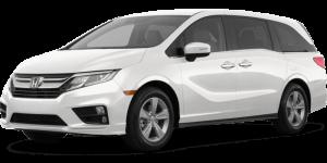 2020 Honda Odyssey White Full Color Driver Side Front Quarter