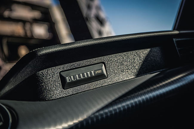 Engraving on Mustang Bullitt Dashboard