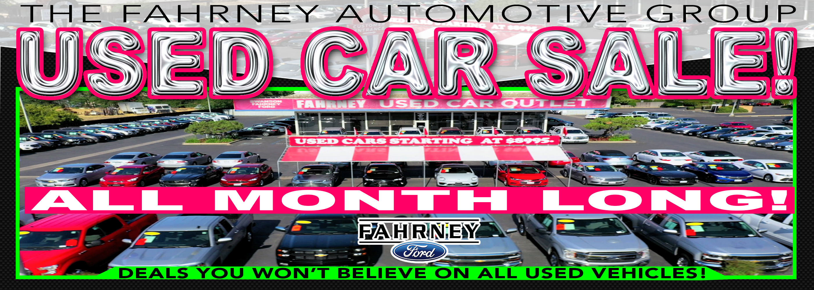 Website Banner Used Car Sale May2020 Ford