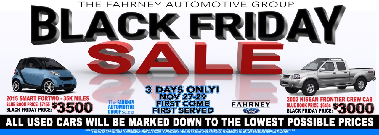 Website Banners Black Friday 2020 Ford