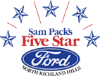 Sam Pack's Five Star Ford Logo - link to homepage
