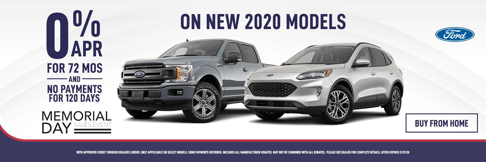 0% APR on 2020 Ford Models