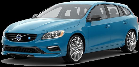 Blue 2017 Volvo V60