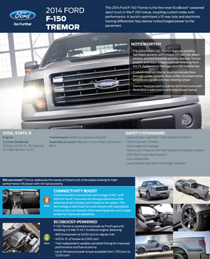 All New 2014 Ford F 150 Tremor Is Worlds First Ecoboost