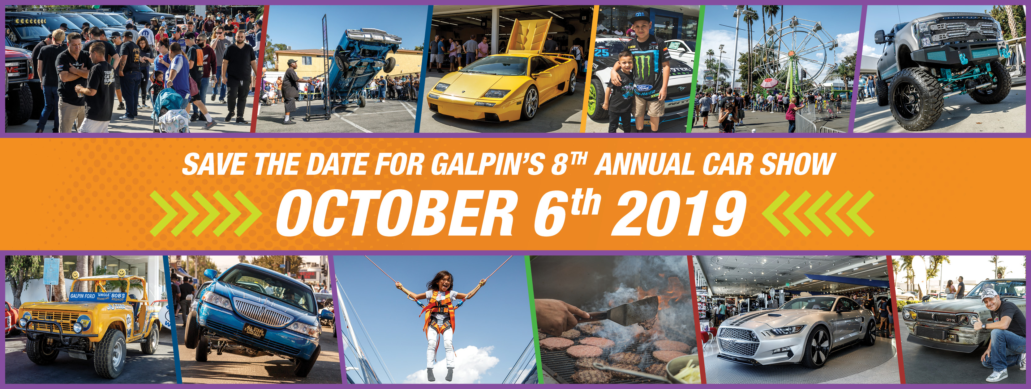 Save the Date for Galpin's 8th Annual Car show october 6th 2019