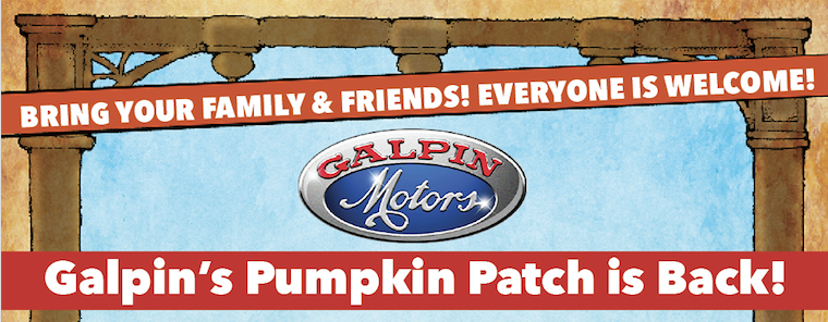 Galpin's Pumpkin Patch is back banner