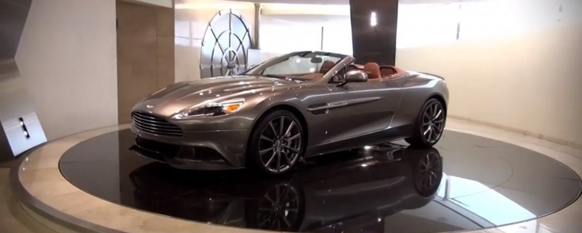 this aston martin dealership & vault is very james bond