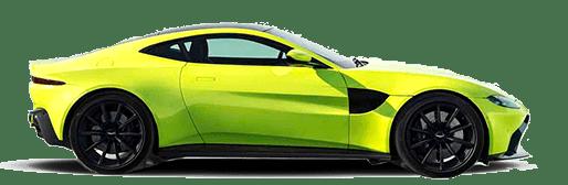 Yellow Aston Martin Vantage