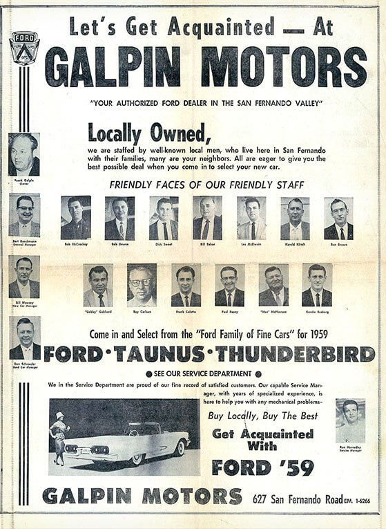 Classic Full-page Galpin Ad