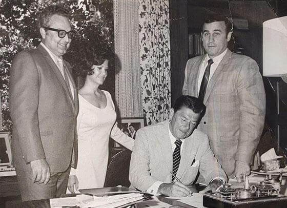 Bert and Jane with Ronald Reagan