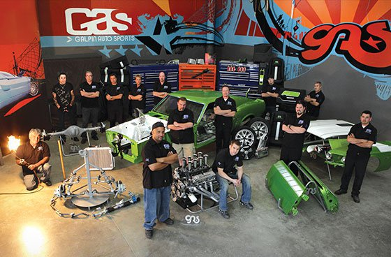 Galpin Auto Sports Showroom and Staff