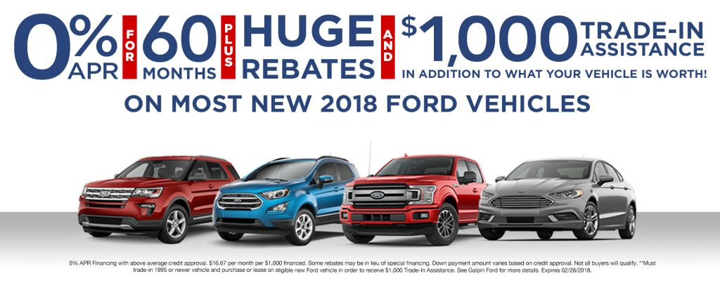 New Ford Specials Lease Deals Rebates Incentives Los Angeles