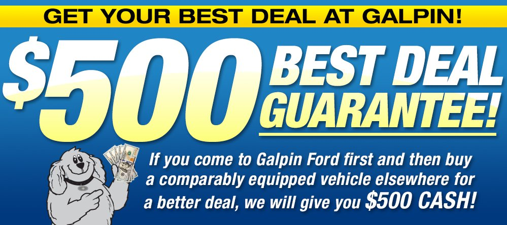 $500 Best Deal Guarantee