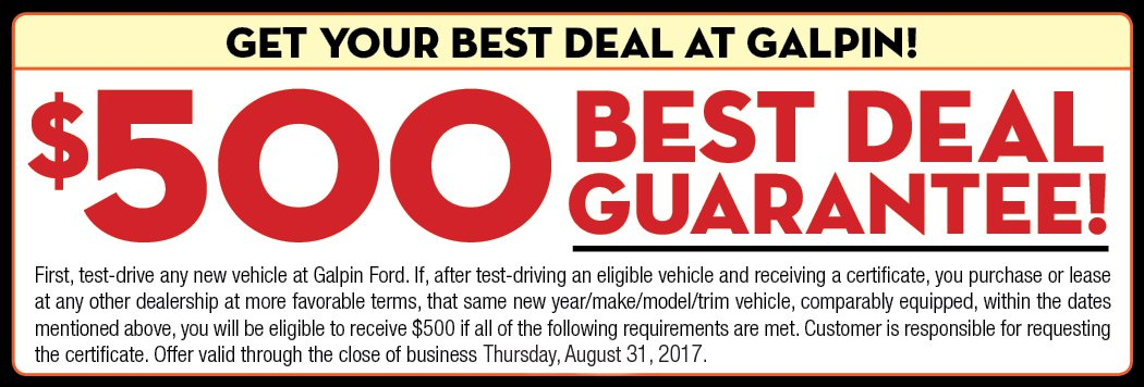 $500 Best Deal Guarantee