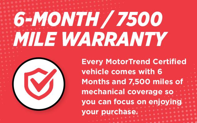 6-Month / 7500 Mile Warranty