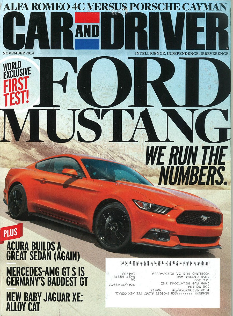 Car Driver Ford Mustang