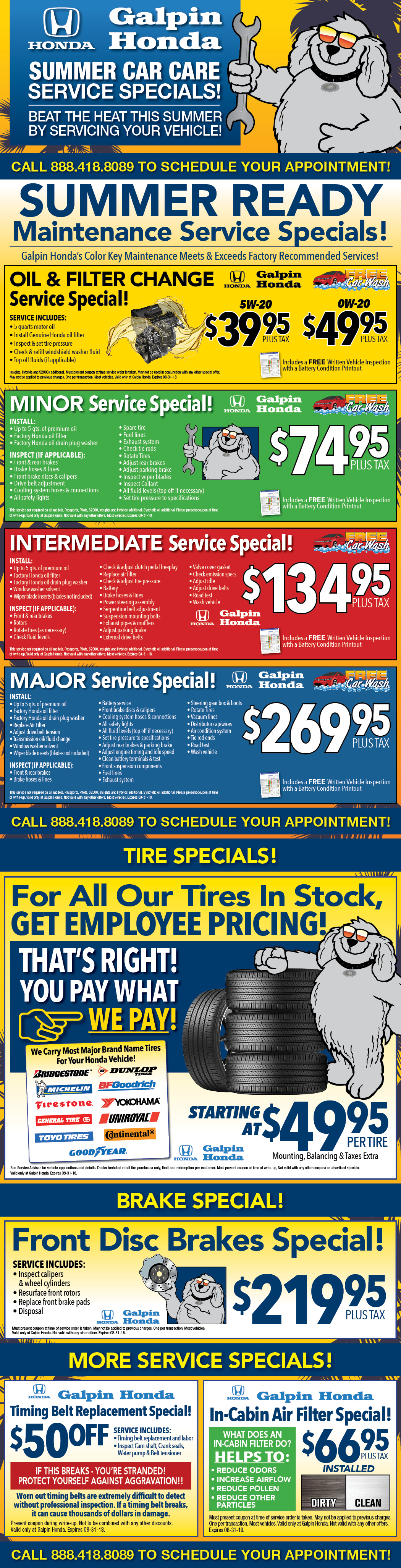 High Quality Honda Service Specials