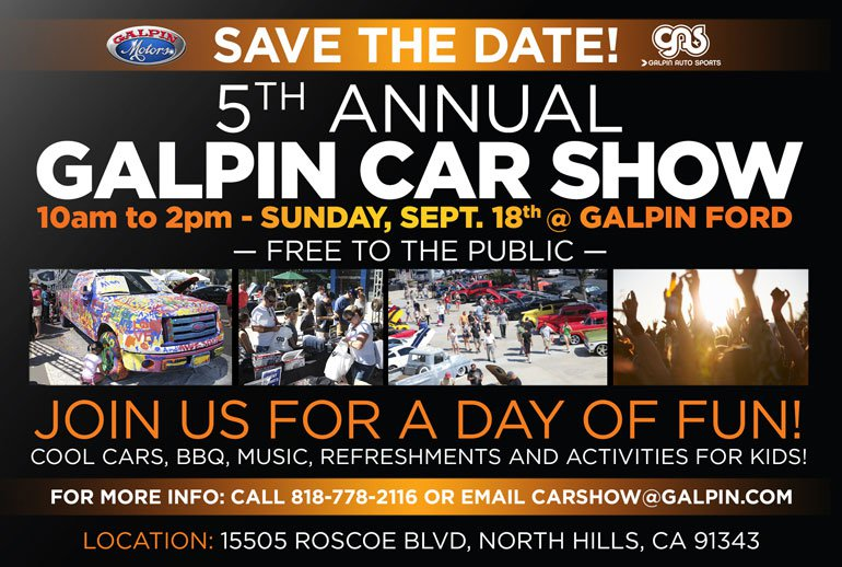 The Th Annual Galpin Car Show Sunday Sept At Galpin Ford - Car show sunday
