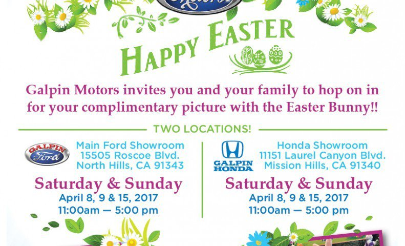 The Easter Bunny Visits Galpin